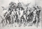Andrea Mantegna A Bacchanal with silengus oil painting picture wholesale